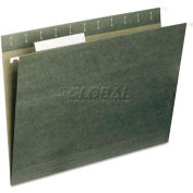 Universal® Hanging File Folders, 1/5 Tab, 11 Point Stock, Legal, Standard Green, 25/Box