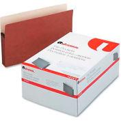 """Universal® 3-1/2"""" Expansion File Pockets, Straight Tab, Legal, Redrope/Manila, 25/Box"""