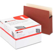 "Universal® 3-1/2"" Expansion File Pockets, Straight Tab, Letter, Redrope/Manila, 25/Box"