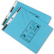 Universal Pressboard Hanging Data Binder, 9-1/2 x 11, Unburst Sheets, Light Blue