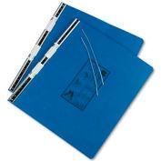 Universal Pressboard Hanging Data Binder, 14-7/8 x 11, Unburst Sheets, Blue
