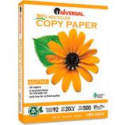 Recycled Copy Paper - Universal UNV20030 - White - 8-1/2 x 11 - 20 lb. - 5000 Sheets/Carton