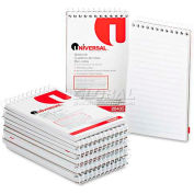 Universal® Wirebound Memo Books, Narrow Rule, 3 x 5, White, 12 50-Sheet Pads/Pack