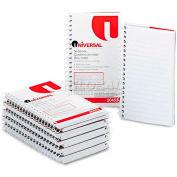 Universal® Wirebound Memo Book, Narrow Rule, 5 x 3, White, 12 50-Sheet Pads/Pack