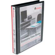 "Universal® Economy D-Ring Vinyl View Binder, 1"" Capacity, Black"