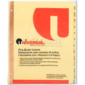 Universal One Preprinted Plastic-Coated Tab Dividers, 12 Month Tabs, Letter, Buff, 12/Set