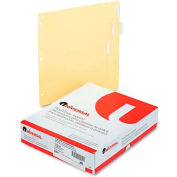 Universal Economical Insertable Index, Clear Tabs, 5-Tab, Letter, Buff, 24 Sets/Box