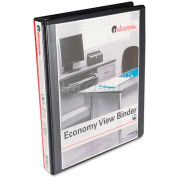 "Universal® Round Ring Economy Vinyl View Binder, 1"" Capacity, Black"