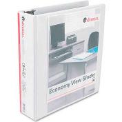 """Universal® Round Ring Economy Vinyl View Binder, 2"""" Capacity, White"""
