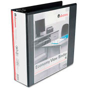 "Universal® Round Ring Economy Vinyl View Binder, 3"" Capacity, Black"