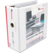 "Universal® Economy D-Ring Vinyl View Binder, 5"" Capacity, White"