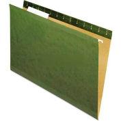 Universal® Reinforced Recycled Hanging Folder, 1/3 Cut, Legal, Standard Green, 25/Box