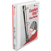 "Universal® Comfort Grip Deluxe Plus D-Ring View Binder, 1"" Capacity, 8-1/2 x 11, White"