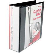 "Universal® Comfort Grip Deluxe Plus D-Ring View Binder, 3"" Capacity, 8-1/2 x 11, Black"