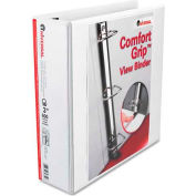 "Universal® Comfort Grip Deluxe Plus D-Ring View Binder, 3"" Capacity, 8-1/2 x 11, White"