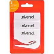 """Universal® Letter Slitter Hand Letter Opener W/Concealed Blade, 2 1/2"""", White, 3/Pack"""