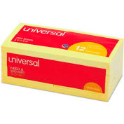 Universal® Standard Self-Stick Notes, 3 x 3, Yellow, 12 100-Sheet Pads/Pack