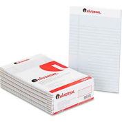 Universal® Colored Perforated Note Pads, Wide Rule, 5 x 8, Gray, 50-Sheet, Dozen