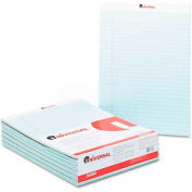 Universal® Colored Perforated Note Pads, 8-1/2 x 11, Blue, 50-Sheet, Dozen