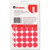 Universal® Permanent Self-Adhesive Color-Coding Labels, 3/4in dia, Red, 1008/Pack