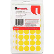 Universal® Permanent Self-Adhesive Color-Coding Labels, 3/4in dia, Yellow, 1008/Pack