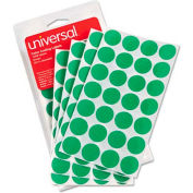 Universal® Permanent Self-Adhesive Color-Coding Labels, 3/4in dia, Green, 1008/Pack