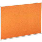 "Universal® Bulletin Board, Aluminum Frame, 48""W x 36""H, Natural"