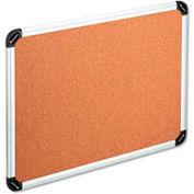 "Universal® Cork Board, Aluminum Frame, 24""W x 18""H, Natural"
