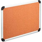 "Universal® Cork Board, Aluminum Frame, 48""W x 36""H, Natural"