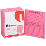 "Universal® ""Important Message"" Pink Pads, 4-1/4 x 5-1/2, 50/Pad, 1/Dozen"
