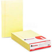 Universal® Glue Top Writing Pads, Wide Rule, Legal, Canary, 50-Sheet Pads/Pack, Dozen