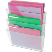 Universal 3 Pocket Wall File Starter Set, Letter, Clear
