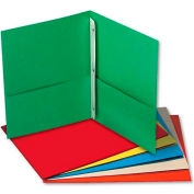 Universal Two-Pocket Portfolios w/Tang Fasteners, 11 x 8-1/2, Assorted, 25/Box