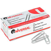 Universal® Smooth Paper Clips, Wire, Jumbo, Silver, 100/Box, 10 Boxes/Pack