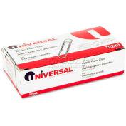 Universal® Nonskid Paper Clips, Wire, Jumbo, Silver, 100/Box