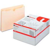 "Universal® Economical File Jackets, 1-1/2"" Expansion, Letter, 11 Point Manila, 50/Box"
