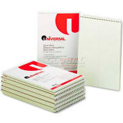 Universal® Steno Book, Gregg Rule, 6 x 9, Green, 70 Sheets/Pad