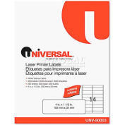 Universal® Laser Printer Permanent Labels, 1-1/3 x 4, White, 3500 Labels