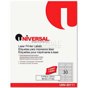 """Universal Laser Printer File Folder Labels, 3-7/16"""" x 2/3"""", Assorted, 750/Pack"""