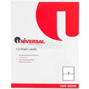 Universal® Inkjet/Laser Printer Labels, 5-1/2 x 8-1/2, White, 200 Labels