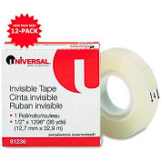 """Universal Invisible Tape, 1/2"""" x 1296"""", 1"""" Core, Clear"""
