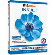 Inkjet Paper - Universal UNV98024 - White - 8-1/2 x 11 - 24 lb. - 500 Sheets/Ream