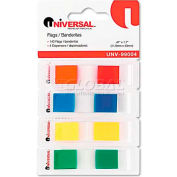 Universal® Page Flags, Assorted Colors, 35 Flags/Dispenser, 4 Dispensers/Pack