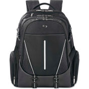 """SOLO® Active Laptop Backpack, 17.3"""", 12 1/2 x 6 x 18 3/4, Black"""