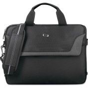 "SOLO® Pro Slim Brief, 14.1"", 14 x 2 x 11, Black"