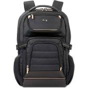 "SOLO® Pro Laptop Backpack, 17.3"", 12 1/2 x 7 1/2 x 18, Black"