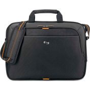 "SOLO® Urban Slim Brief, 15.6"", 16 3/4 x 1 3/4 x 11 3/4, Black"