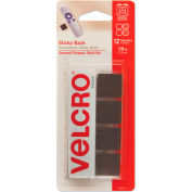"""VELCRO® Brand Sticky-Back Hook and Loop Square Fasteners on Strips, 7/8"""", Black, 12 Sets/Pack"""