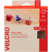 VELCRO® Brand Sticky-Back Hook and Loop Fastener Tape with Dispenser, 3/4 x 15 ft. Roll, White