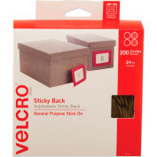 VELCRO® Brand Sticky-Back Hook and Loop Dot Fasteners, Dispenser, 3/4 Inch, Beige, 200/Roll